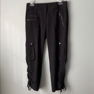 Cache Black Cargo Synched Ankle Dress Pant